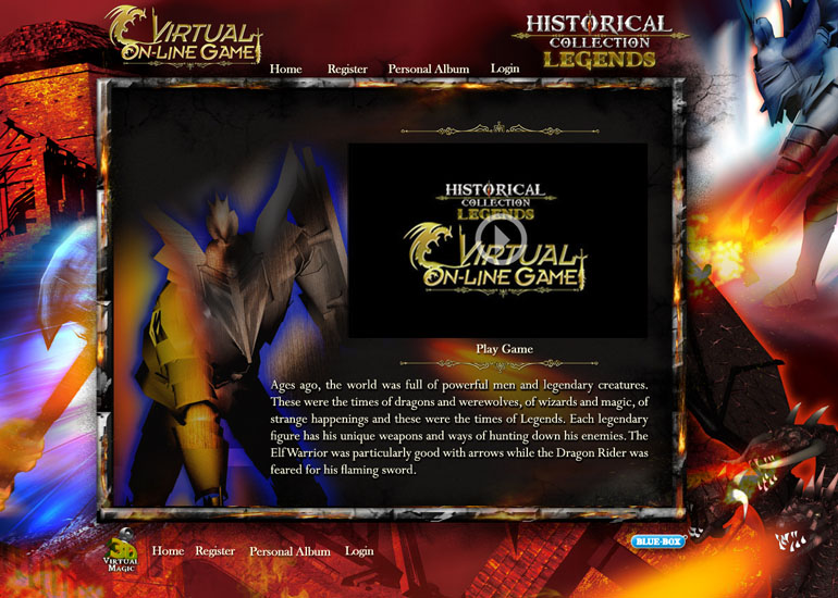 BlueBox Historical Collctions AR 3D Online Game