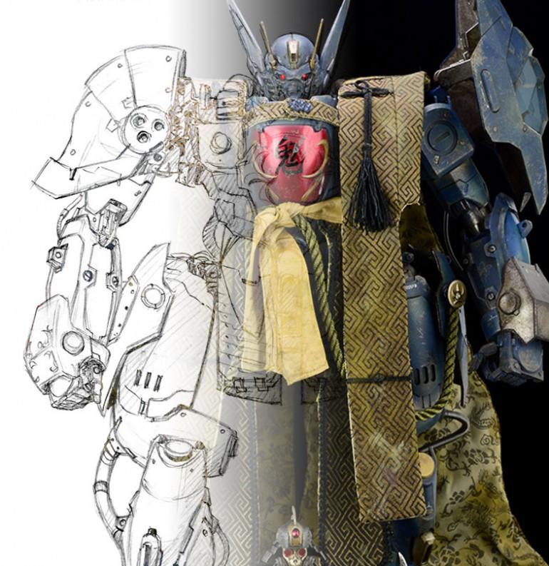 BANDAI x threezero合力打造原創機械人作品《重甲侍鬼》FULLMETAL GHOST